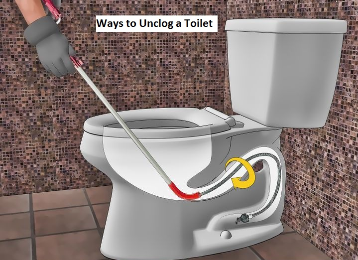 Unclogging toilet with plunger